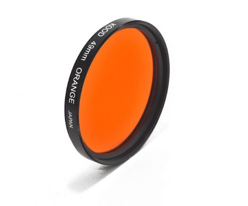 Kood High Quality Optical Glass Orange Filter Made in Japan 49mm